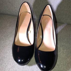 Merona shiny black high heels